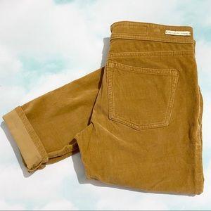 PILCRO & THE LETTERPRESS Yellow Cuffed Serif Pants